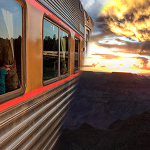 Train & Sunset No Words Square