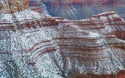 Snow on the Supai Grand Canyon