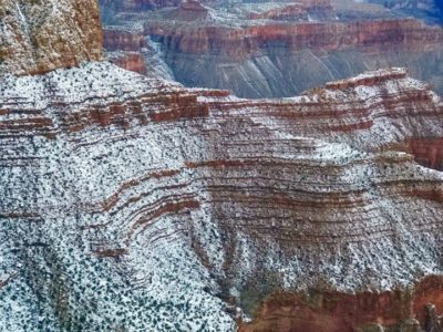 Snow on the Supai Grand Canyon